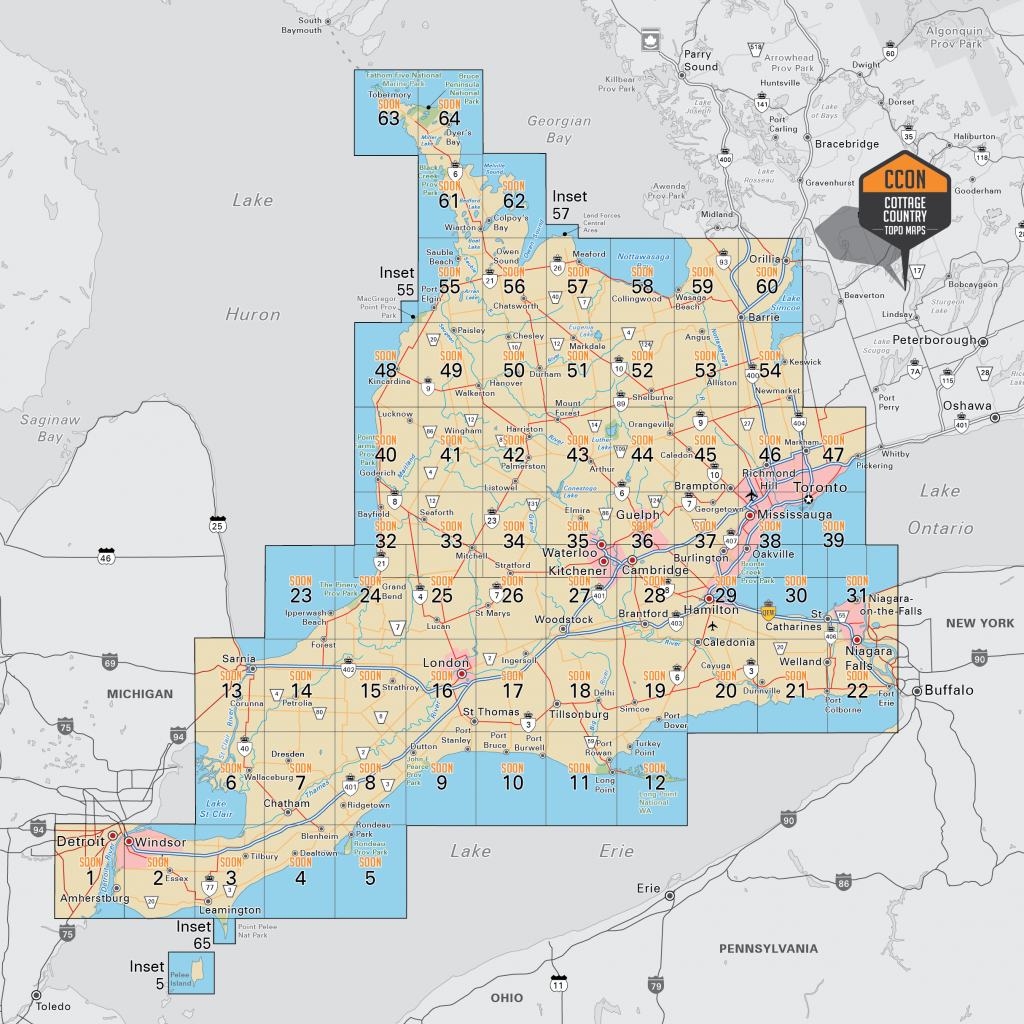 Southwestern Ontario - Southwest Region Map Printable