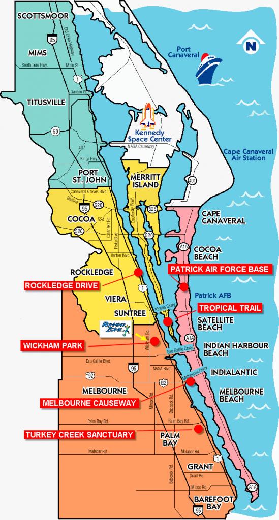 Space Coast Florida Map | Fysiotherapieamstelstreek - Coco Beach Florida Map