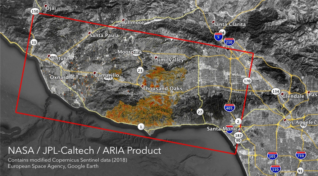 Space Images   Nasa's Aria Maps California Fire Damage - Southern California Campgrounds Map