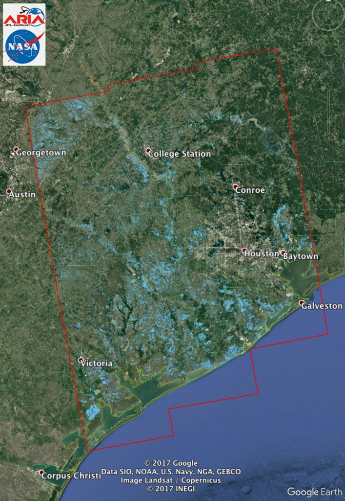 Space Images | New Nasa Satellite Flood Map Of Southeastern Texas - Satellite Map Of Texas