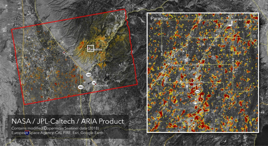 Space Images   Updated Aria Map Of Ca Camp Fire Damage - Map Of California Fire Damage