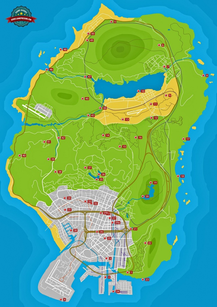 Spaceship Parts - Grand Theft Auto V Game Guide | Gamepressure - Gta 5 Printable Map