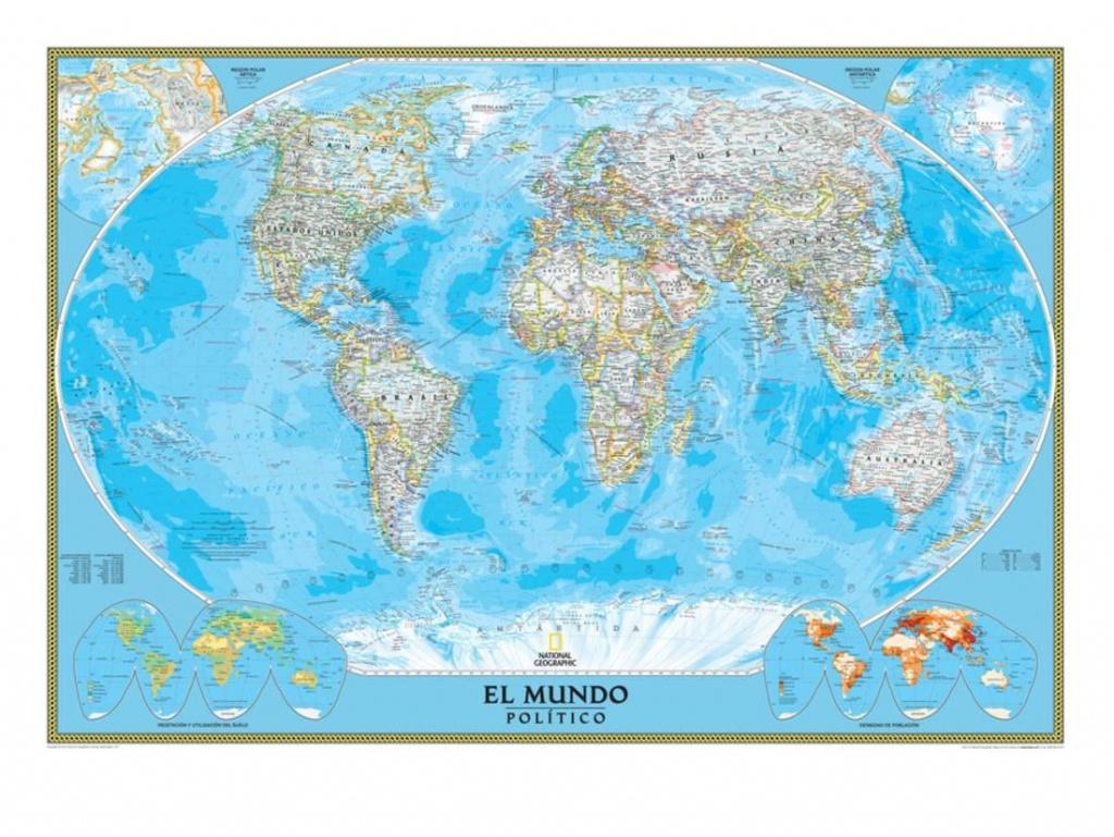 Spanish Classic World Map Print Wall Artnational Geographic Maps - National Geographic World Map Printable