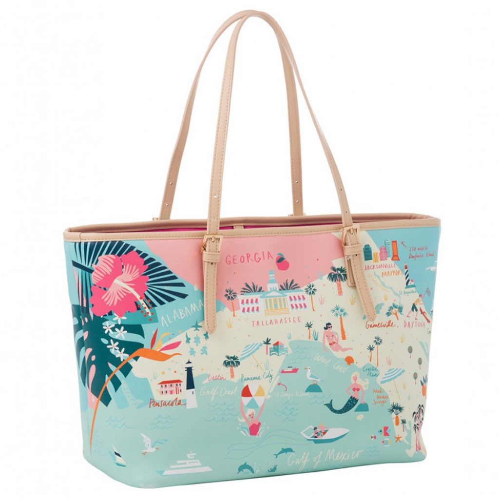 Spartina 449 Florida Map Tote Bag | The Paper Store - Florida Map Purse