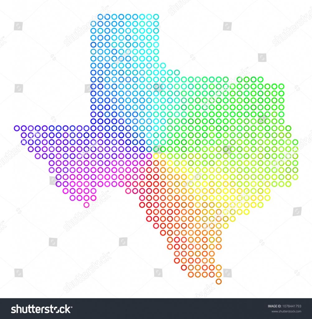 Spectrum Texas Map Vector Geographic Map Stock Vector (Royalty Free - Geographic Id Map Texas