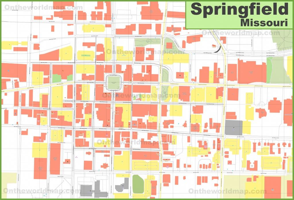 Springfield (Missouri) Downtown Map - Printable Map Of Springfield Mo