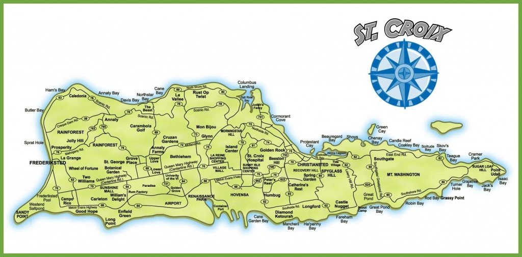 St. Croix Island Map - Printable Map Of St Croix