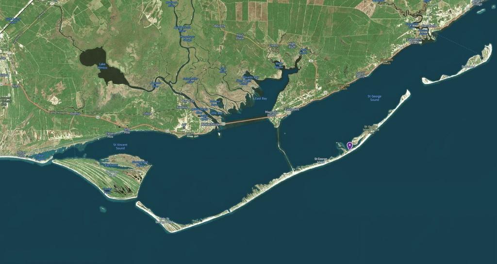 St. George Island: An Evacuation Tale - Leisure Travel Vans - St George Island Florida Map