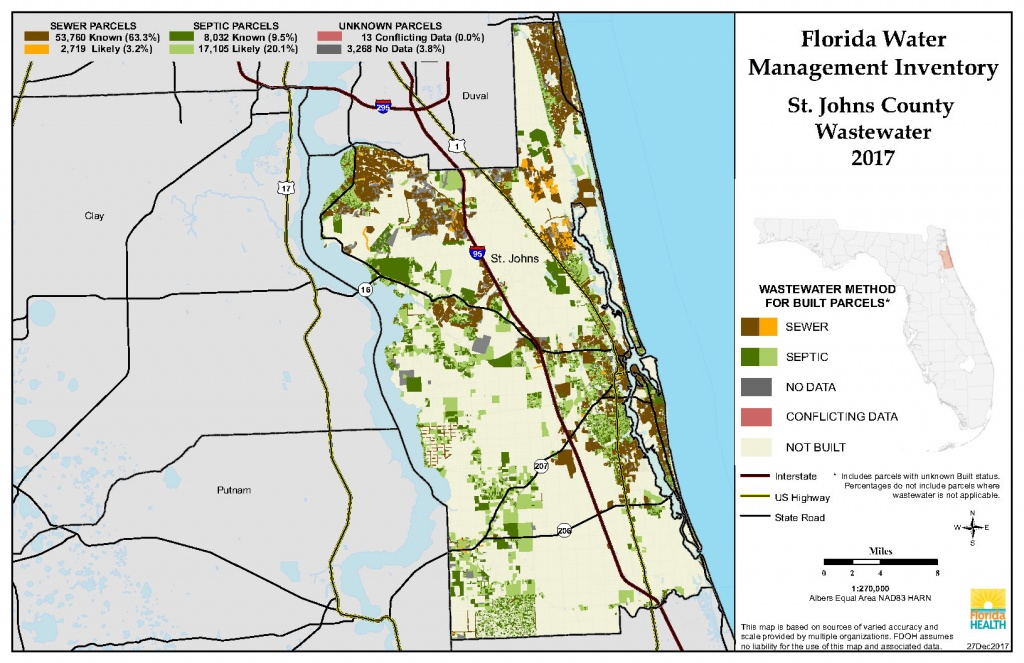 St. Johns Florida Water Management Inventory Summary | Florida - Map Of St Johns County Florida