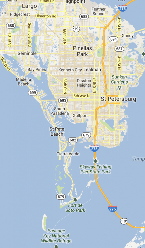 St. Pete Beach And Pass-A-Grille Florida   St Petersburg Clearwater - Punta Verde Florida Map