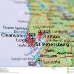 St. Petersburg, Florida On Map Stock Image   Image Of Cities, Maps   St Pete Florida Map