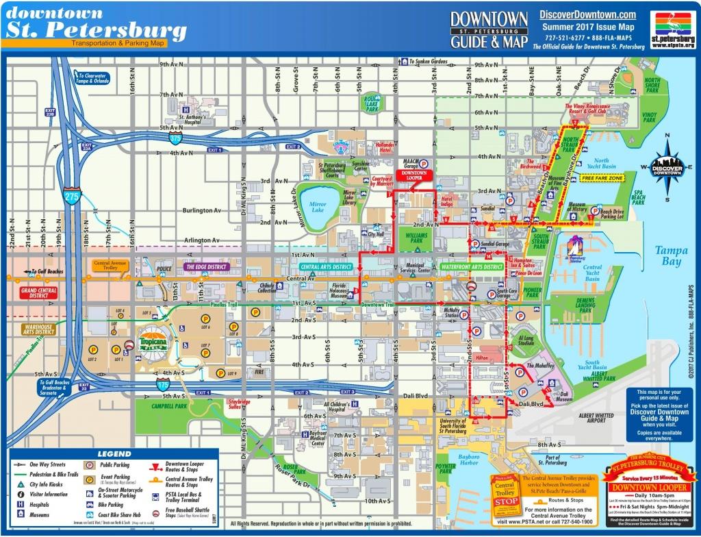 St. Petersburg Maps | Florida, U.s. | Maps Of St. Petersburg - St Petersburg Florida Map