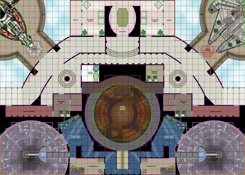 Star Wars Rpg Maps | Cloud City Tile Set C | Star Wars | Star Wars - Star Wars Miniatures Printable Maps