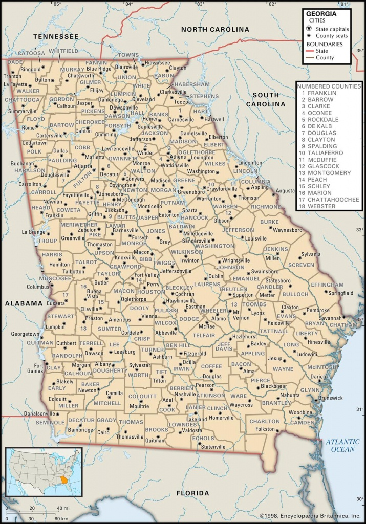 State And County Maps Of Georgia - Map Of Northeast Florida And Southeast Georgia