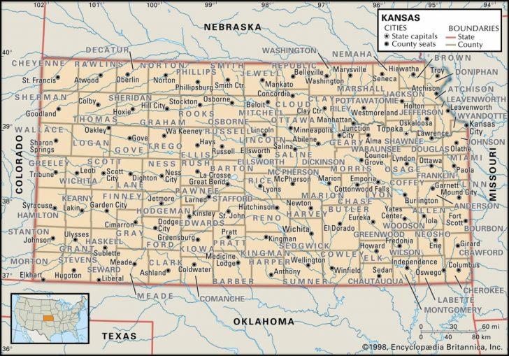 Printable Map Of Kansas