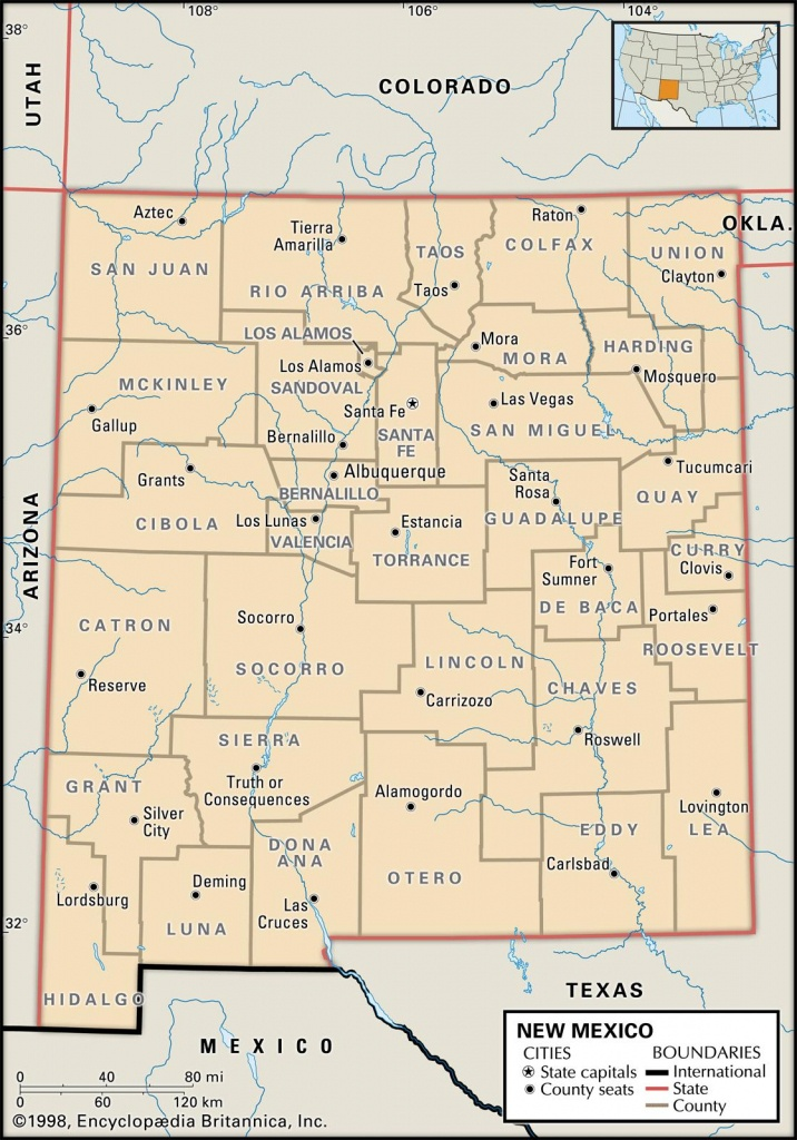 State And County Maps Of New Mexico - Printable Map Of New Mexico