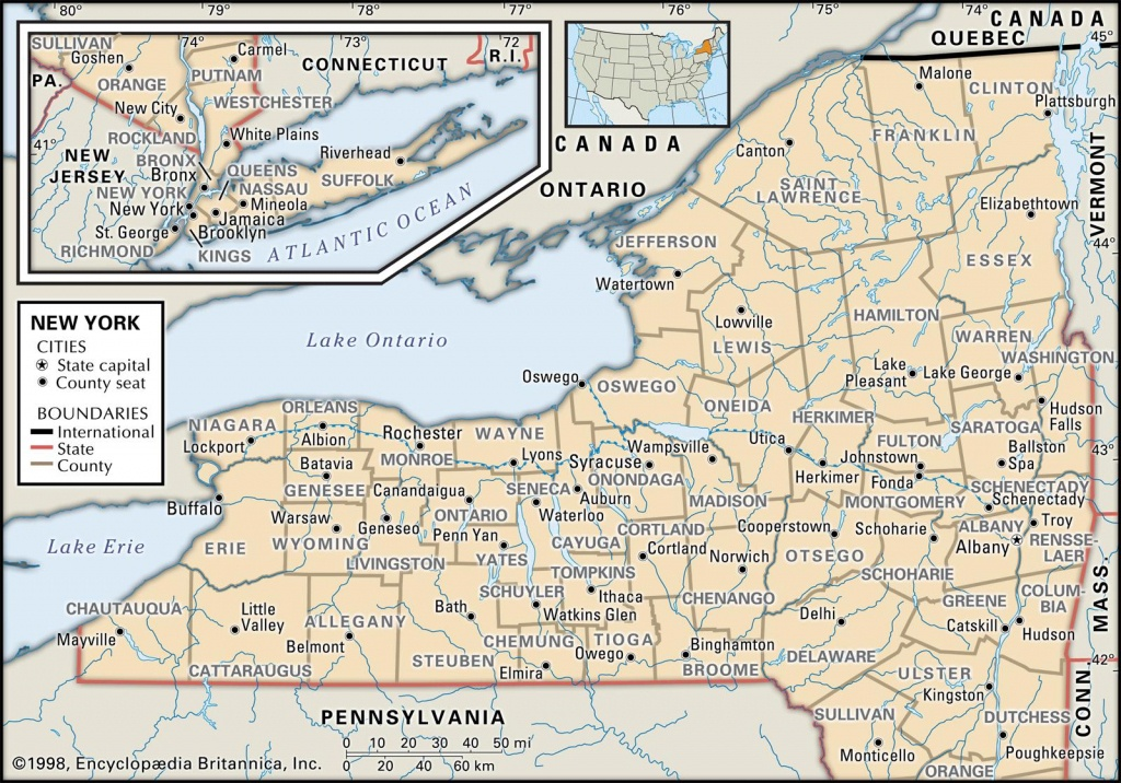 State And County Maps Of New York - Printable Map Of New York State