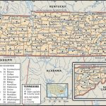 State And County Maps Of Tennessee   Printable Map Of Tennessee With Cities