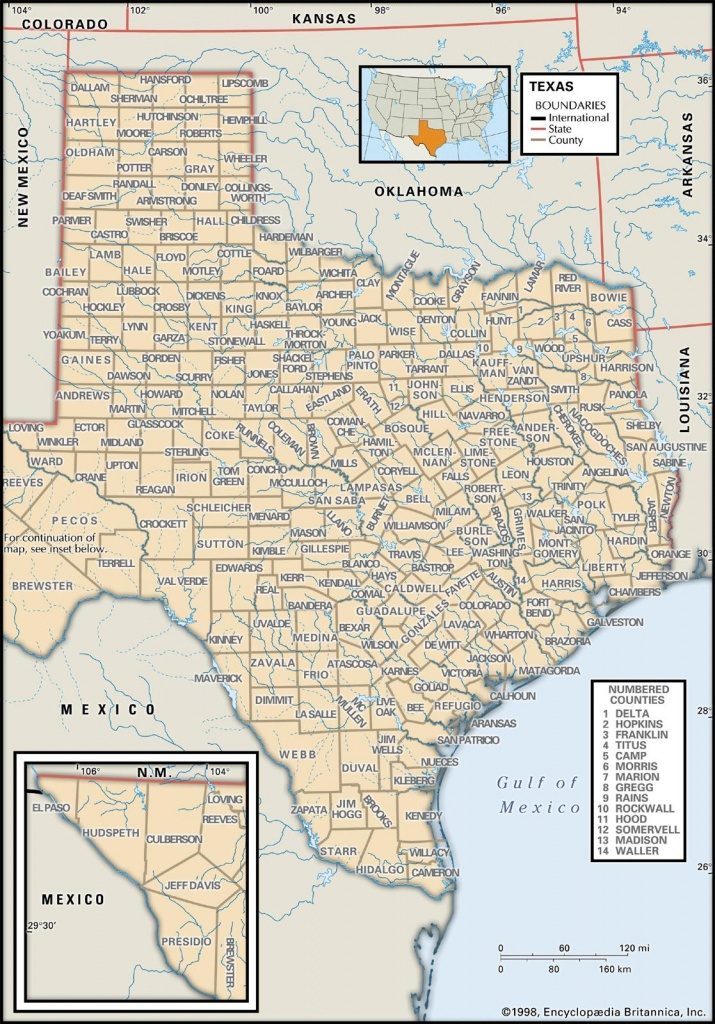 State And County Maps Of Texas - Colorado City Texas Map