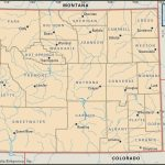 State And County Maps Of Wyoming   Printable Map Of Wyoming