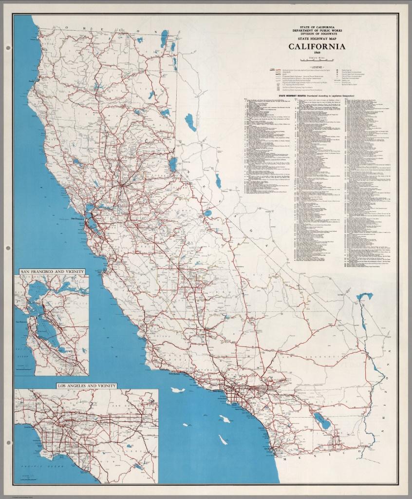State Highway Map, California, 1960. - David Rumsey Historical Map - California Highway Map