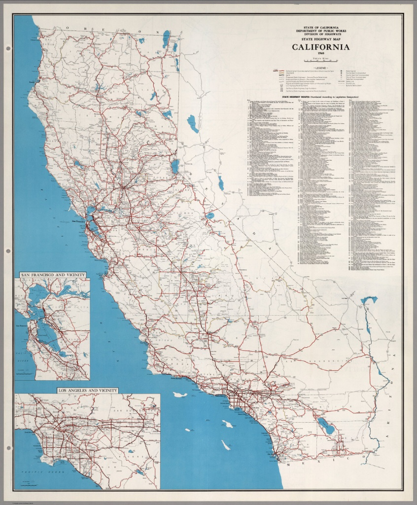 State Highway Map, California, 1960. - David Rumsey Historical Map - California State Road Map