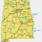 State Of Alabama Road Map   Free Printable Maps   Printable Alabama Road Map