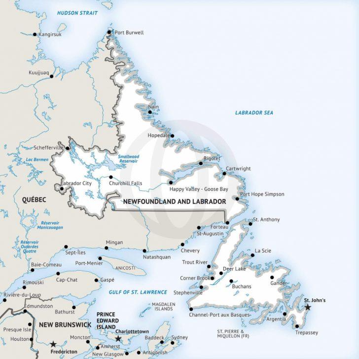 Printable Map Of Newfoundland