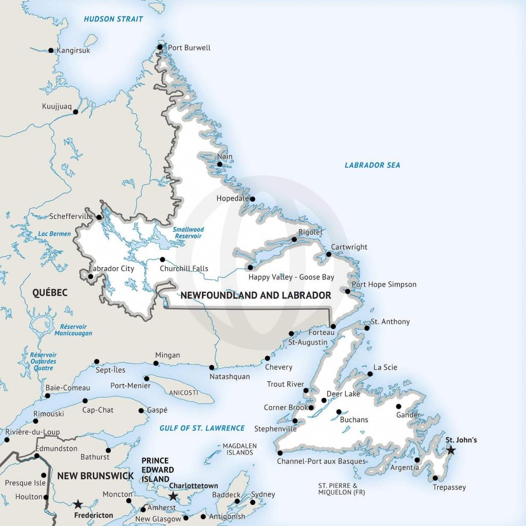 Stock Vector Map Of Newfoundland And Labrador | One Stop Map - Printable Map Of Newfoundland