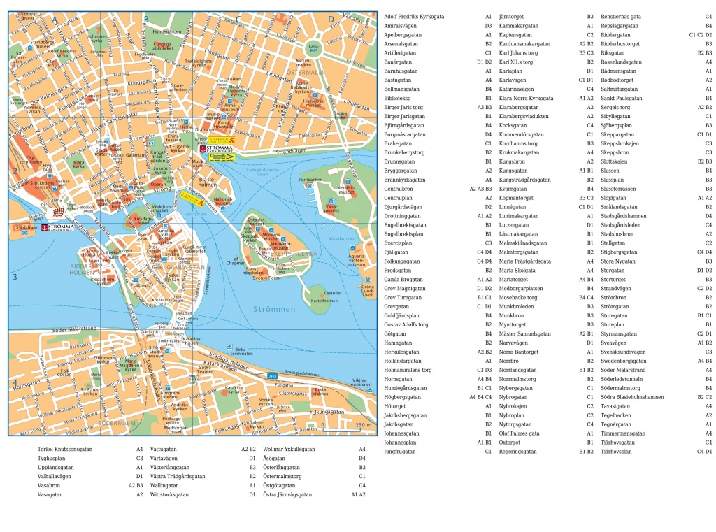 Stockholm City Center Map - Printable Map Of Stockholm