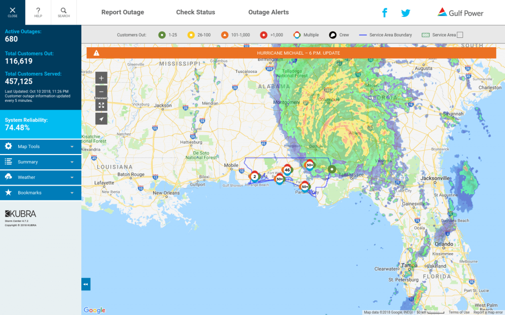 Storm Center Outage Maps Receive 3.1 Million Views For Record - Duke Outage Map Florida