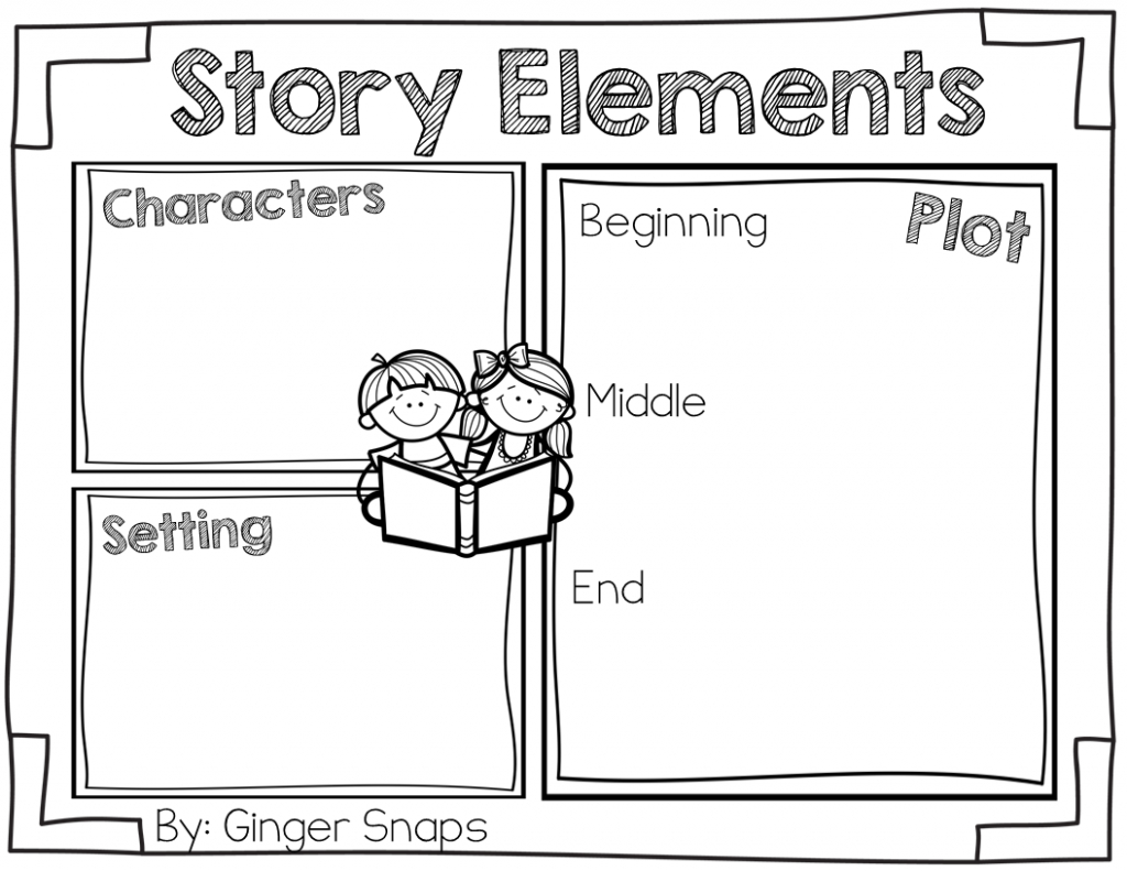 Story Elements Freebie (Ginger Snaps Treats For Teachers)   Free - Printable Story Map For First Grade