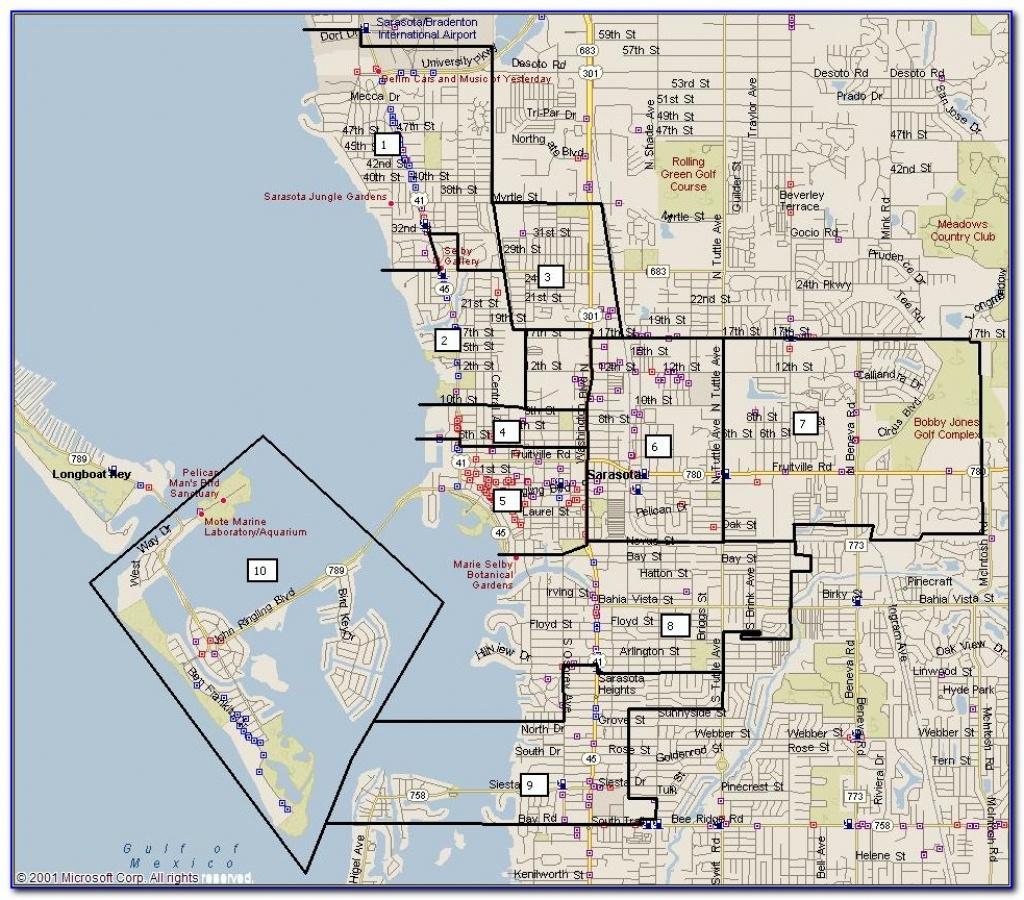 Street Map Of Downtown Sarasota Fl - Maps : Resume Examples #pvmvmdypaj - Sarasota Florida Map Of Florida