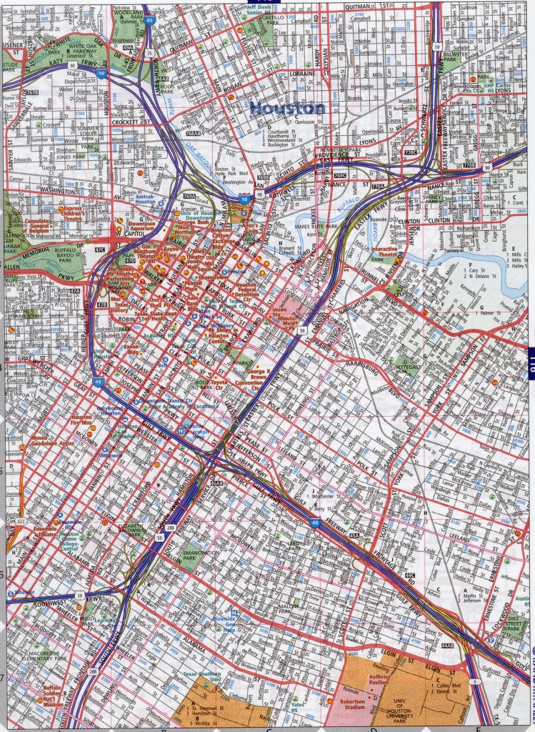 Street Map Of Houston Texas And Travel Information | Download Free - Texas Street Map