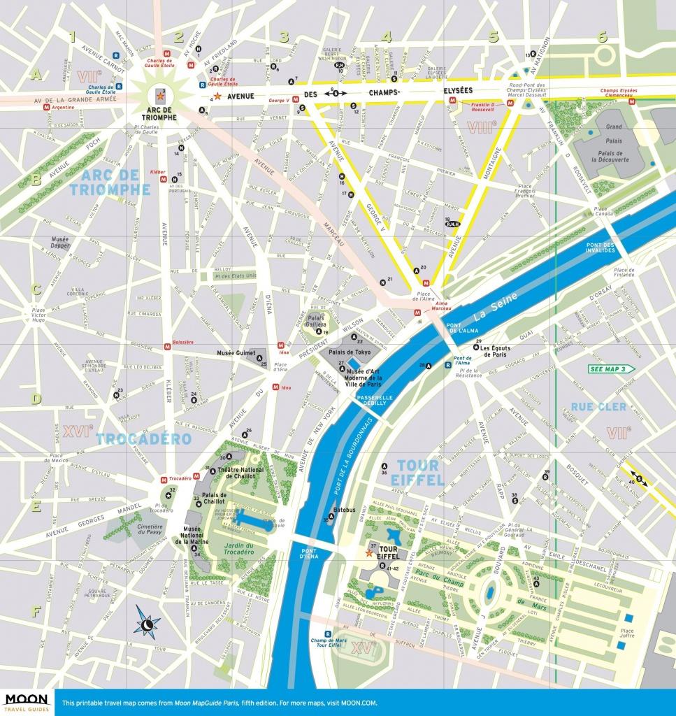Street Map Of Paris France Printable | World Map - Printable Map Of Paris Arrondissements