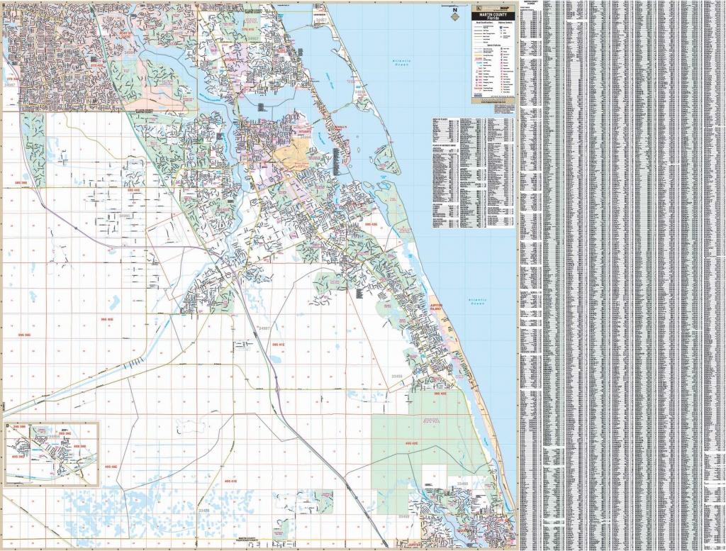 Stuart / Martin Co., Florida Wall Map – Kappa Map Group - Street Map Of Stuart Florida