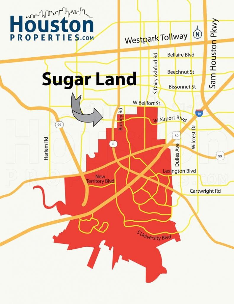 Sugar Land Tx Map | Great Maps Of Houston | Houston Neighborhoods - Sugar Land Texas Map
