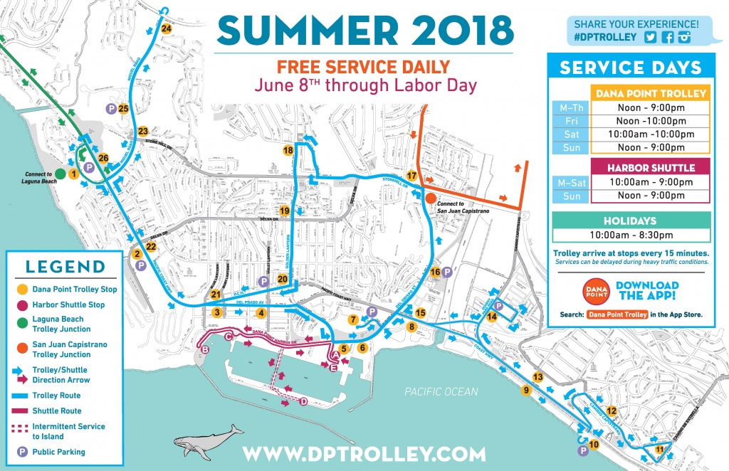 Summer 2018 Trolley Service – - Dana Point California Map
