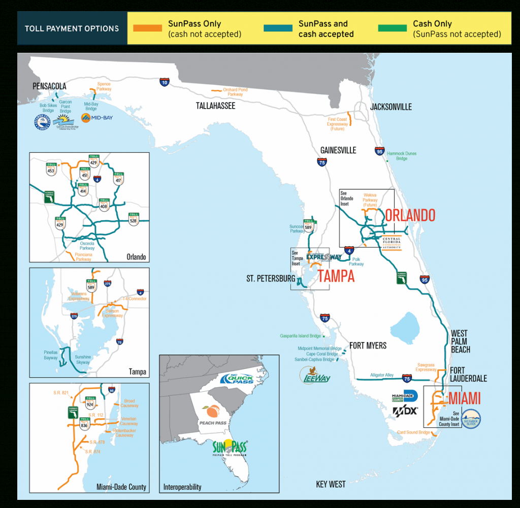 Sunpass : Where To Use Sunpass - Florida Airports Map