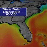 Sunshine State Staying Warm In Winter   Florida Water Temperature Map