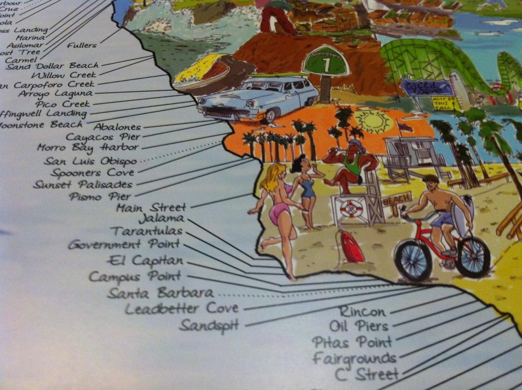 Surf Spot Map - Surf Spots In California Map