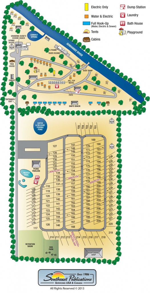 Suwannee River Rendezvous Resort - Map Of Rv Parks In Florida
