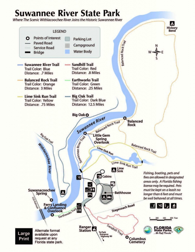 Suwannee River State Park - Visit Natural North Florida - Florida State Rv Parks Map
