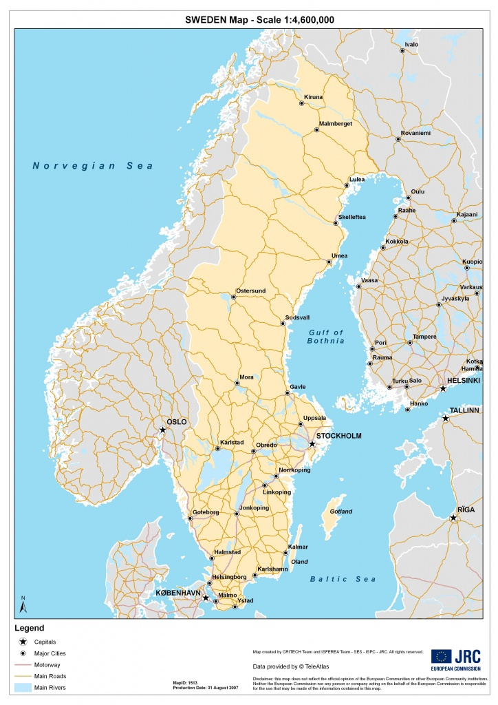 Sweden Maps | Printable Maps Of Sweden For Download - Printable Map Of Sweden