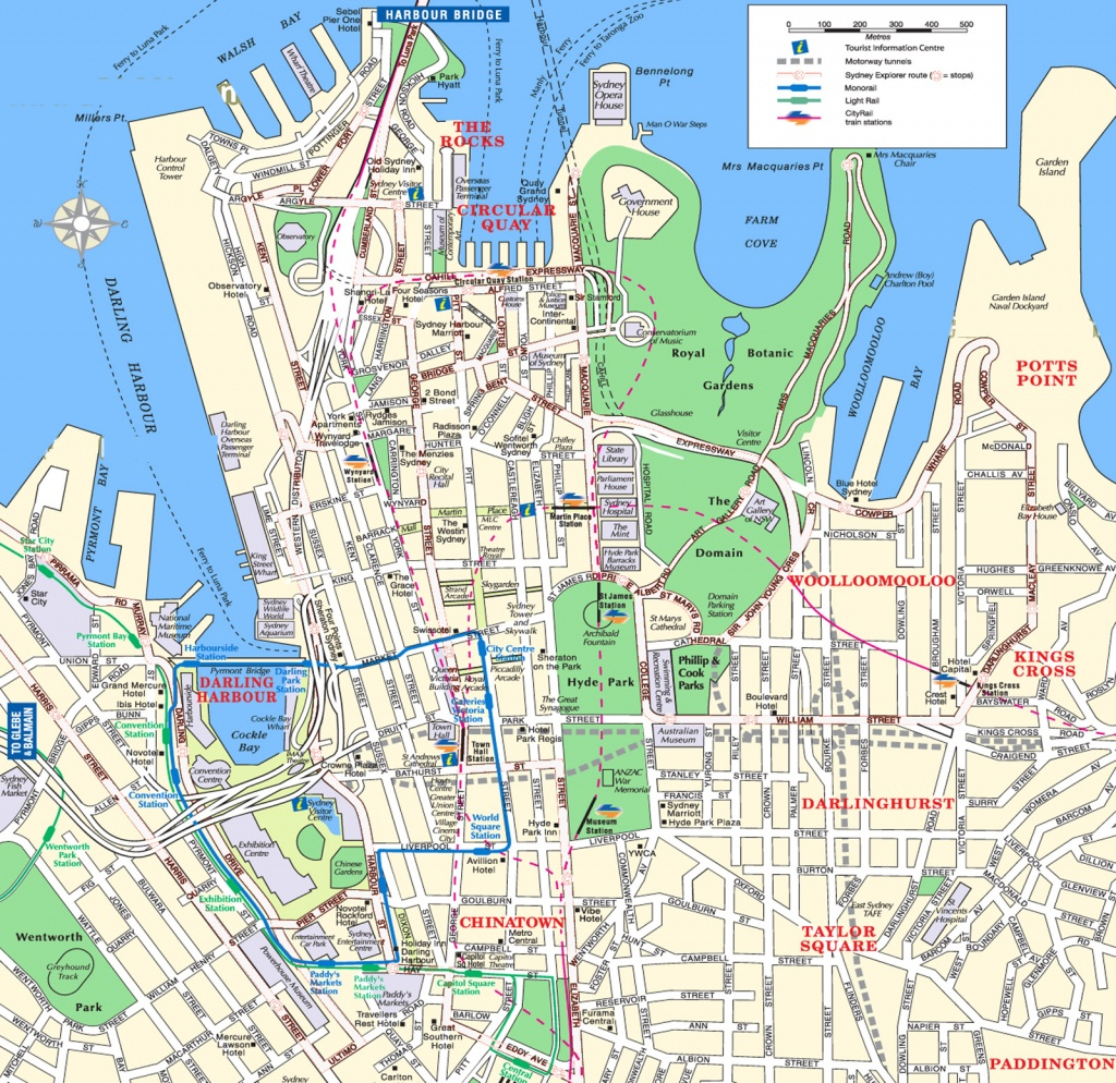 Sydney Attractions Map Pdf - Free Printable Tourist Map Sydney - Sydney Tourist Map Printable