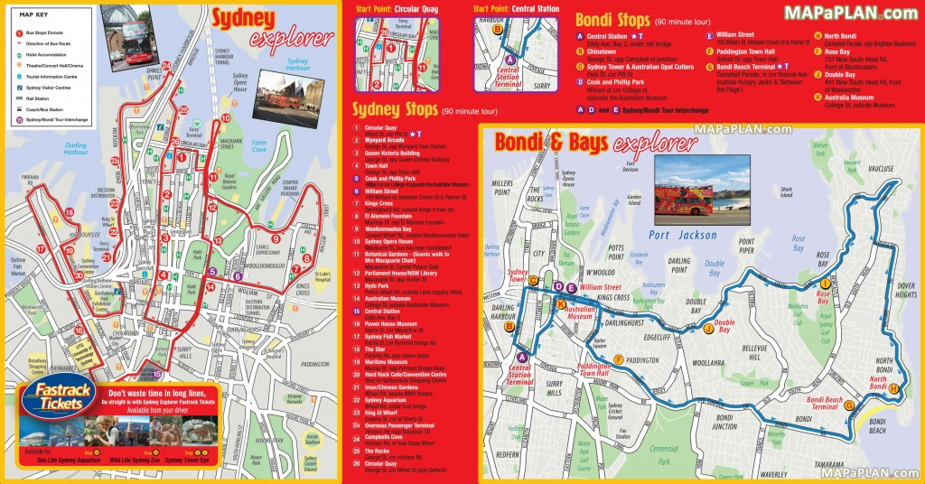 Sydney Maps - Top Tourist Attractions - Free, Printable City Street Map - Sydney Tourist Map Printable