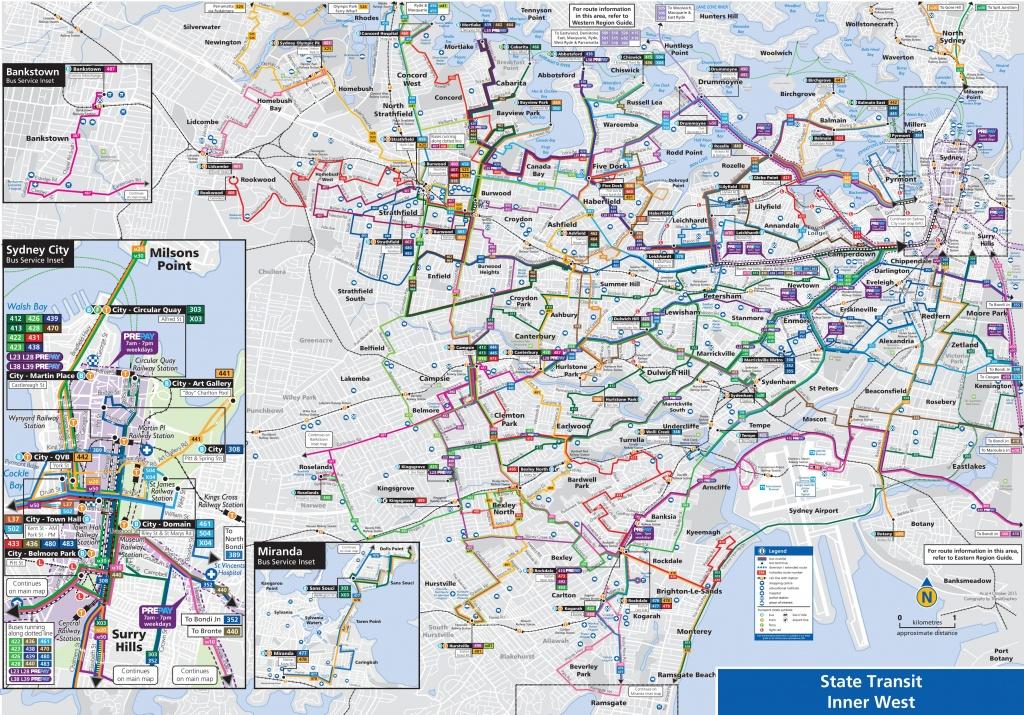 Sydney Suburbs Bus Map - Printable Map Of Sydney Suburbs