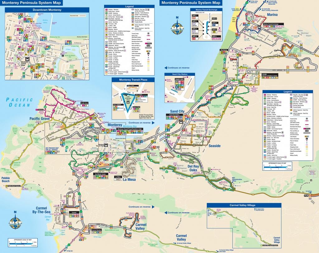 System Maps | Monterey-Salinas Transit - Seaside California Map