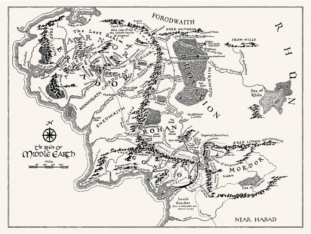 T16) - Middle Earth Map In 2019   Tattoos   Middle Earth Map, Middle - Printable Hobbit Map