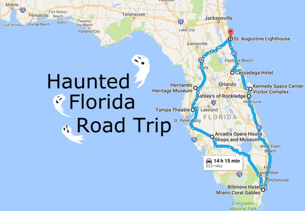 Take This Awesome Road Trip To Florida's Most Haunted Places - Wisconsin To Florida Road Trip Map